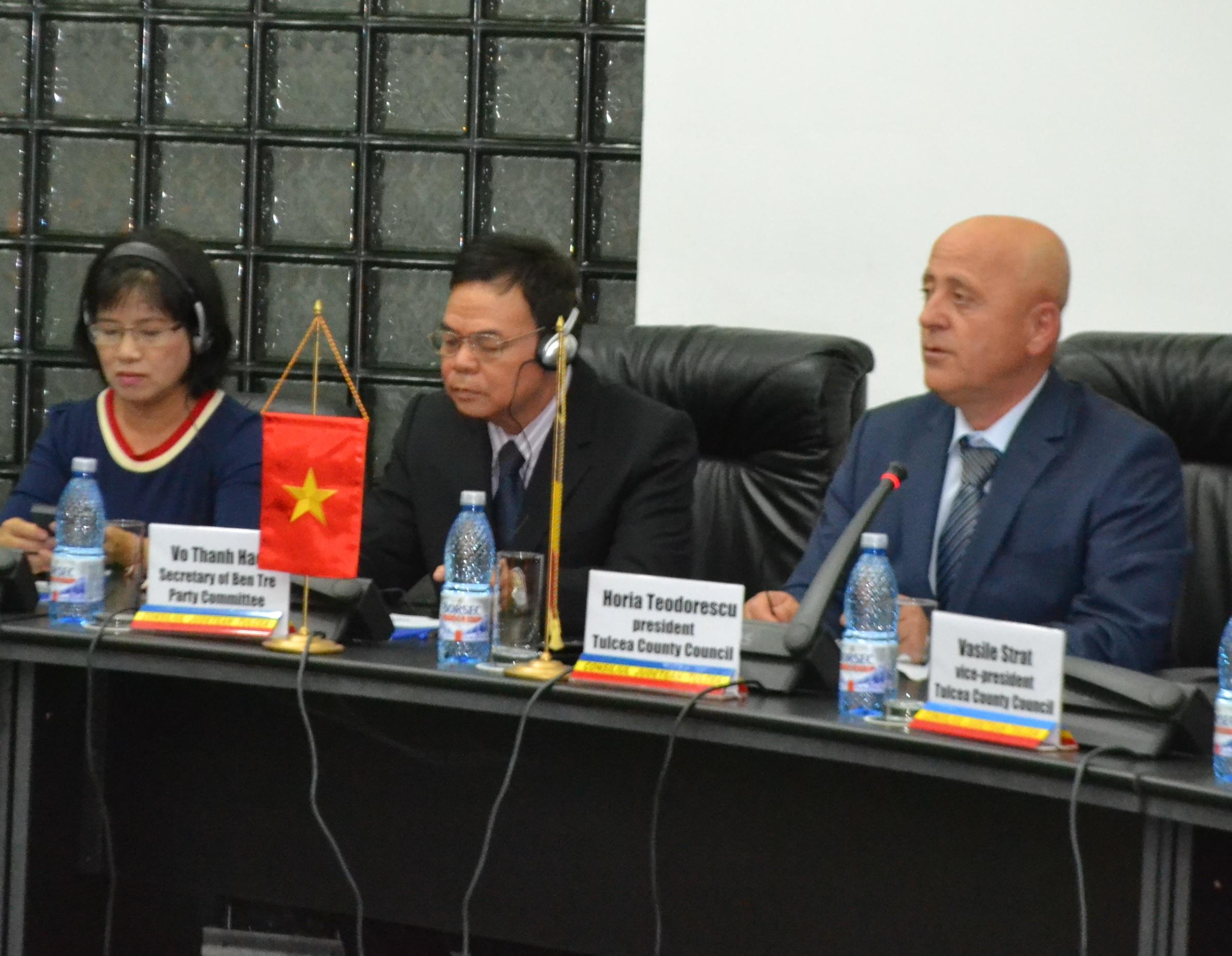 Delegație din Vietnam, în vizită de lucru în județul Tulcea