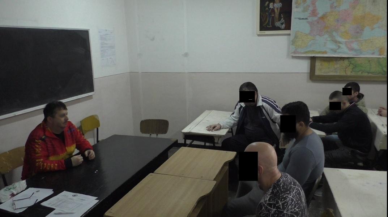 Sensei Nicolae Pănuță, în vizită la  Penitenciarul Tulcea