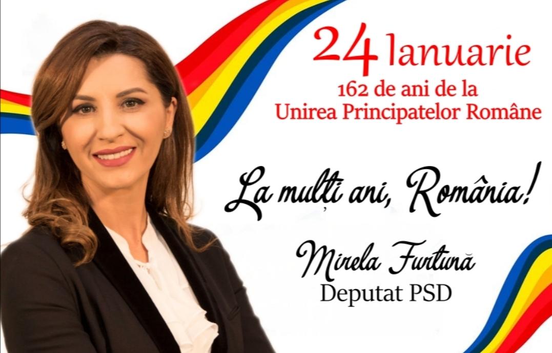 """Deputat Mirela Furtună: """"La mulţi ani, România"""