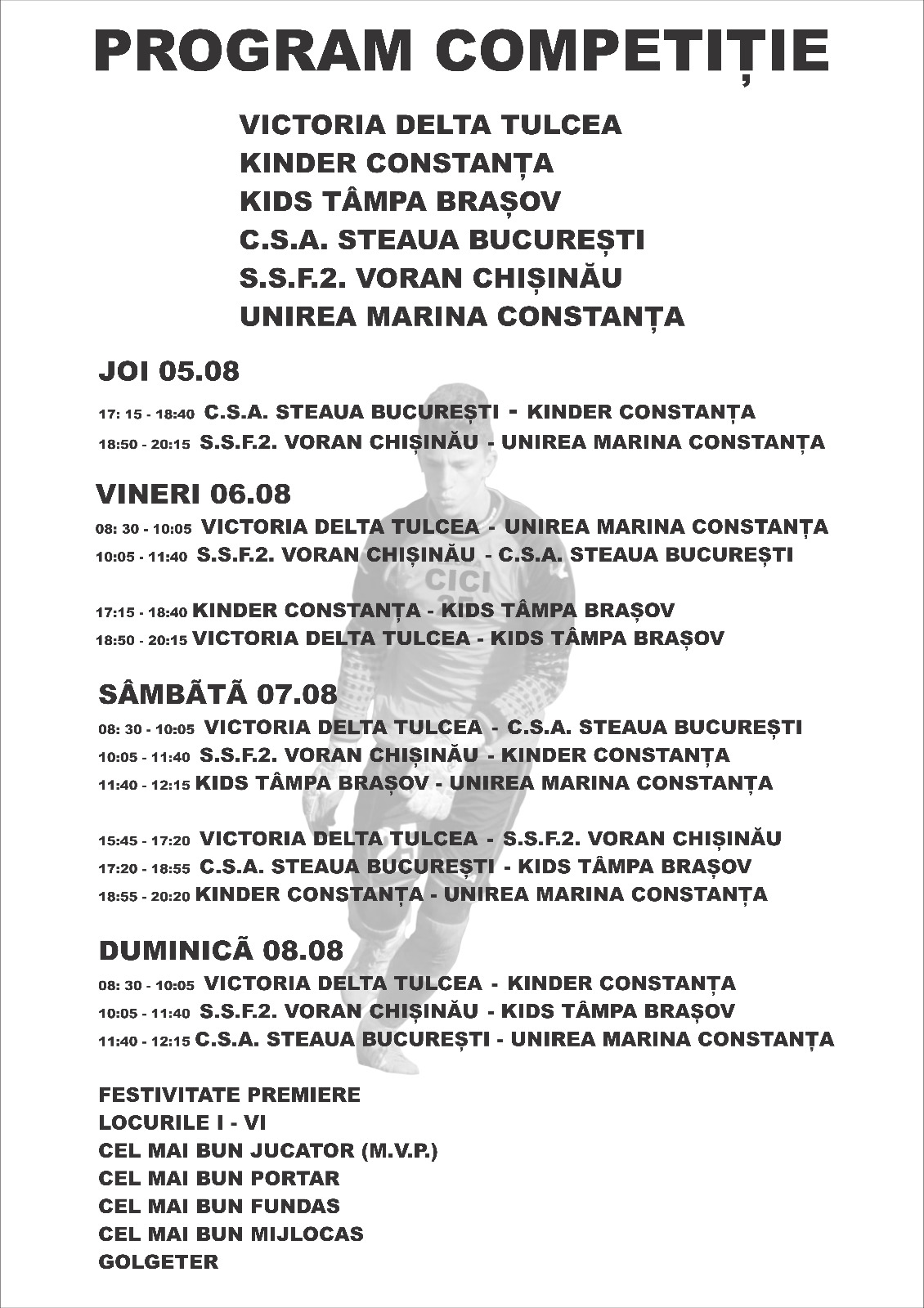 """Memorialul """"Adrian Cicîrîc"""" 5-8 august, ajunge la a treia ediție"""