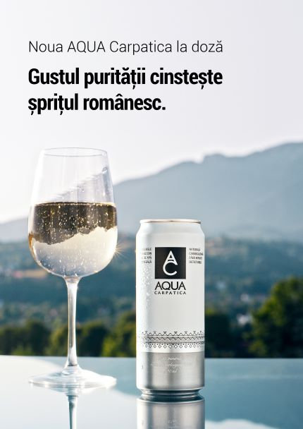 AQUA Carpatica, membră Valvis Holding, lansează cu mândrie prima doză de apă minerală românească